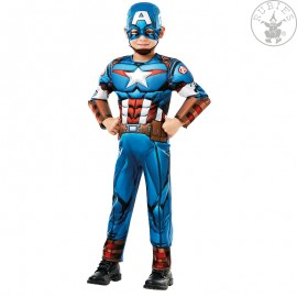 Captain America Avengers Assemble Deluxe- Child LS