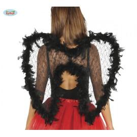 Černá andělská křídla s labutěnkou D
