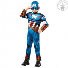 Captain America Avengers Assemble Deluxe - Child - licenční kostým