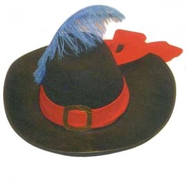 Mušketýrský klobouk 56