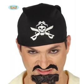 Pirátský šátek s lebkou a meči D