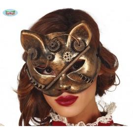 Maska - kočka STEAMPUNK