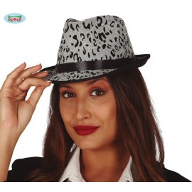Silver leopard gangster - dámský klobouk