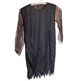 Černé šaty s krajkovámi rukávy
