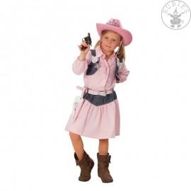 COWGIRL rosa - dětský karnevalový kostým D