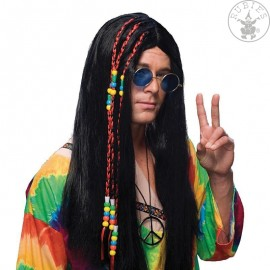 Hippie černá - karnevalová paruka D