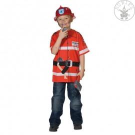 Tričko hasič červené D