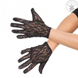 Rukavice krajkové černé