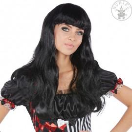 Glamour černá - karnevalová paruka (54362)