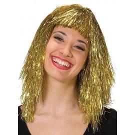 Flitrová paruka jemná - zlatá D