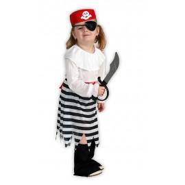 Malá pirátka - karnevalový kostým