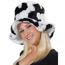 Čepice černobílá D