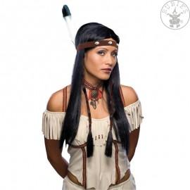 Indiánka s čelenkou - karnevalová paruka
