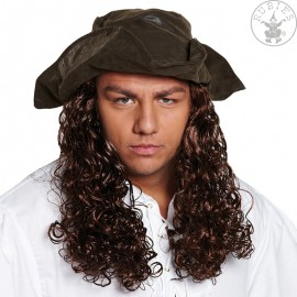Pirátský klobouk s vlasy D