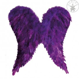 Andělská křídla péřová fialová 65 x 60 cm D