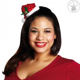 Flitrová vánoční čepička s vlasovou sponou