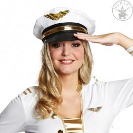 Bílá důstojnická čepice vel. 58