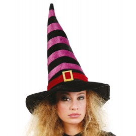 Čarodějnický klobouk černo - vínový D