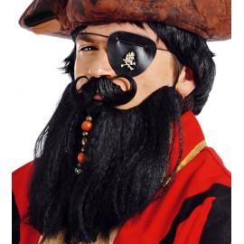 Velké pirátské vousy s knírem černé D