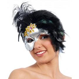 Maska dámská péřová jednostranná D