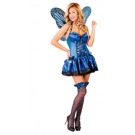 Kostým motýl modrý D