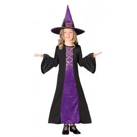 Kostým čarodějnice fialový