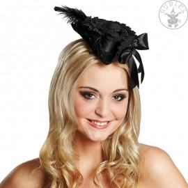 Pirátksý klobouček Deluxe černý D