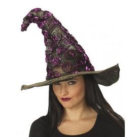 Čarodějnický klobouk černo-fialový D