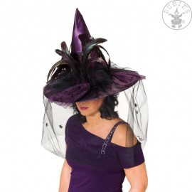 Čarodějnický klobouk fialový Deluxe