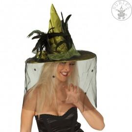 Čarodějnický klobouk zelený Deluxe D