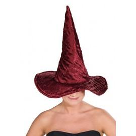 Čarodějnický klobouk vínový lux D