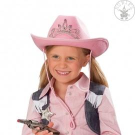 Kovboj dětský růžový s diademem D