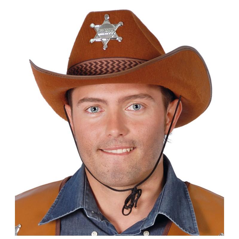 0aea7345b40 Pánský kovbojský klobouk hnědý s hvězdou