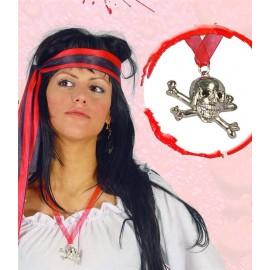 Pirátský přívěsek - lebka s hnáty