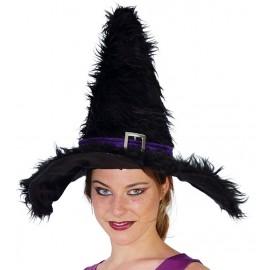 Čarodějnický klobouk se sponou černý