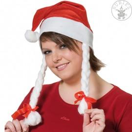 Vánoční čepička s copy D