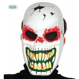 Maska skelet bílá - halloween D