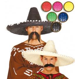 Mexický klobouk barevný 61 cm