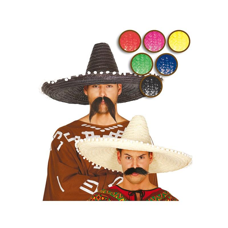 37e6dbb2605 Mexický klobouk barevný 61 cm