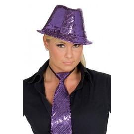 Flitrový klobouk fialový D