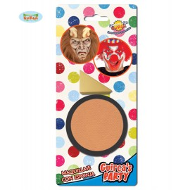 Líčidlo tělové barvy s aplikačnou houbičkou