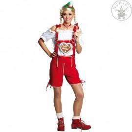Tyrolské kalhoty červené dámské D