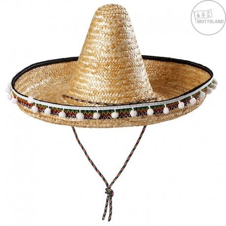 Mexický klobouk s pompony D 04c83068ec