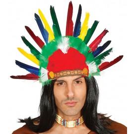 Indiánská péřová čelenka