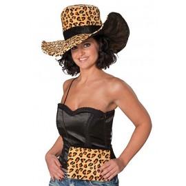 Dámský klobouk Leopard s kabelkou D