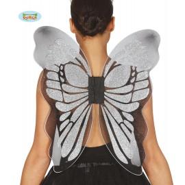 Motýlí křídla stříbrná 46 x 54 cm