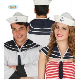 Námořnický set - čepička s límcem