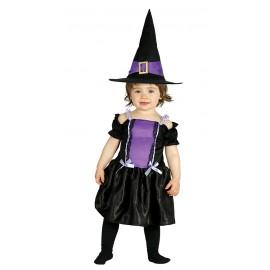 Kostým fialová čarodějka 6 - 12 měsíců