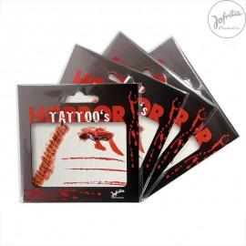 Tetování - krvavé rány