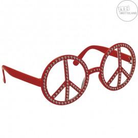 Brýle Hippie s kamínky červené x